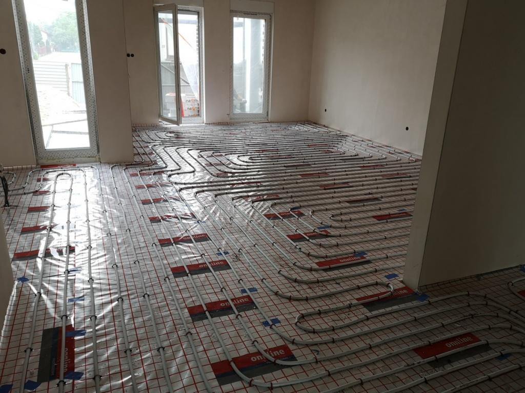 2020 06 05 Instalacja CO ogrzewania podłogowe M3 salon